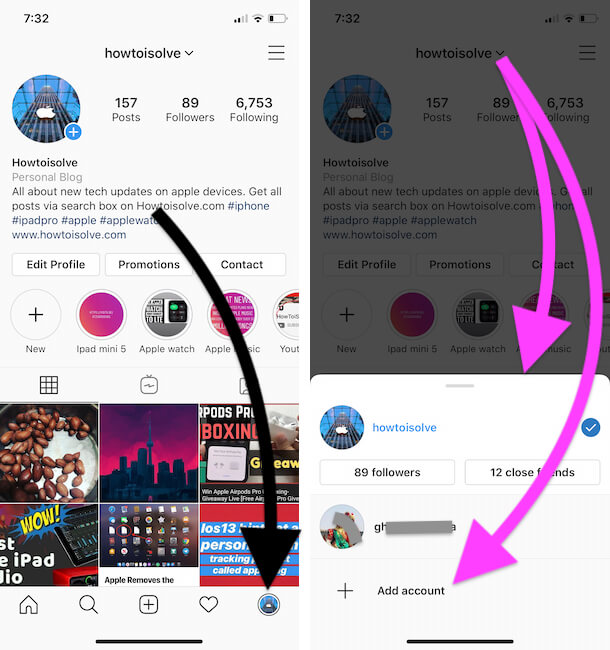 Fix Instagram Notifications Not Working On iPhone - Switch To Main Account