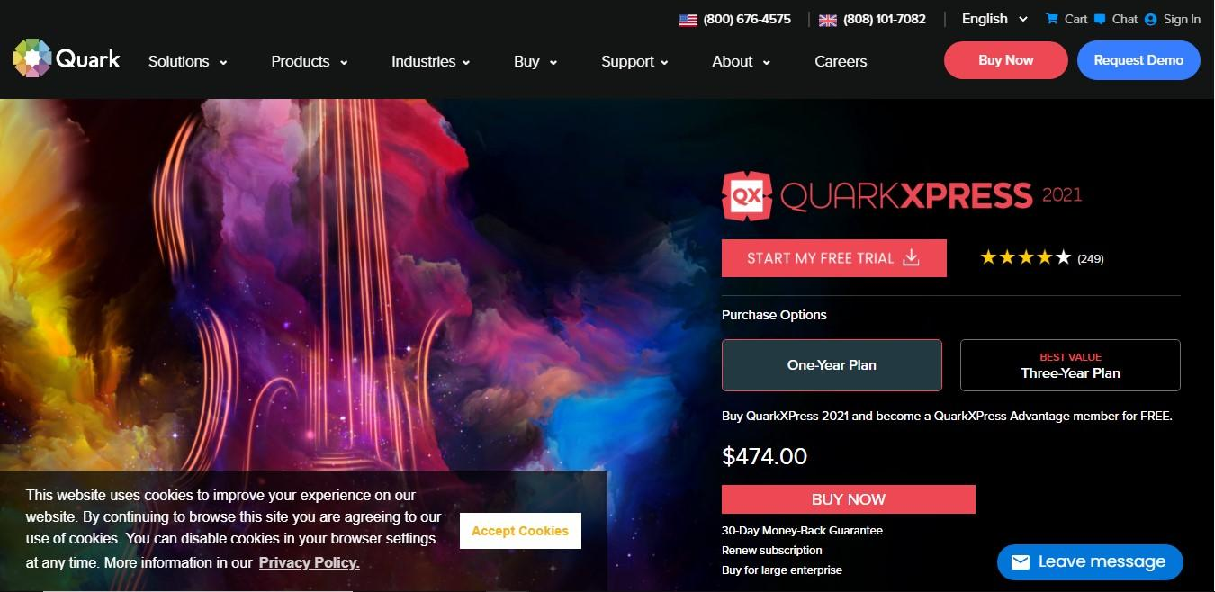 Quark Xpress the best free brochure maker software for marketers and small business owners