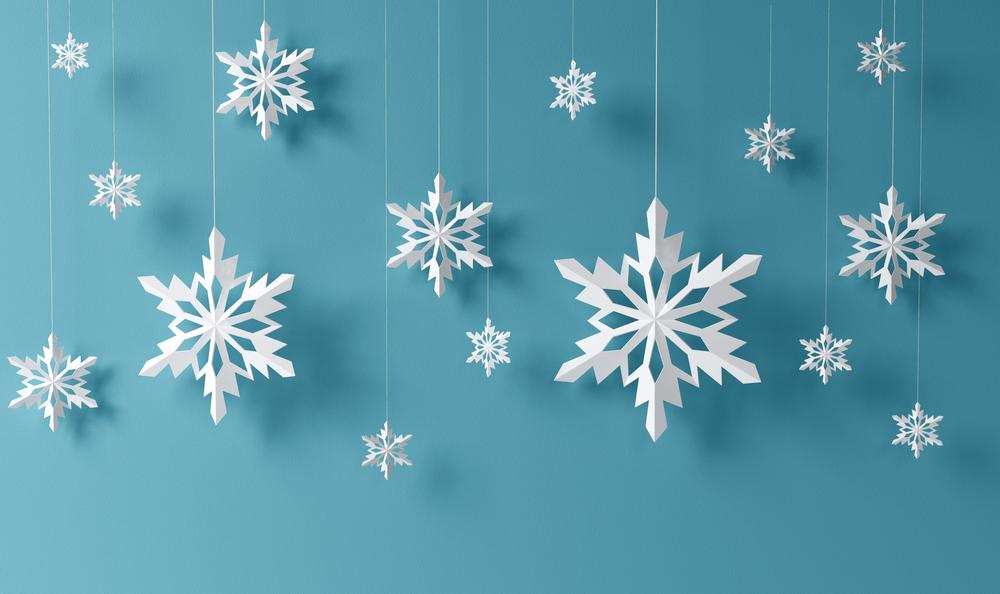 paper snowflakes hanging