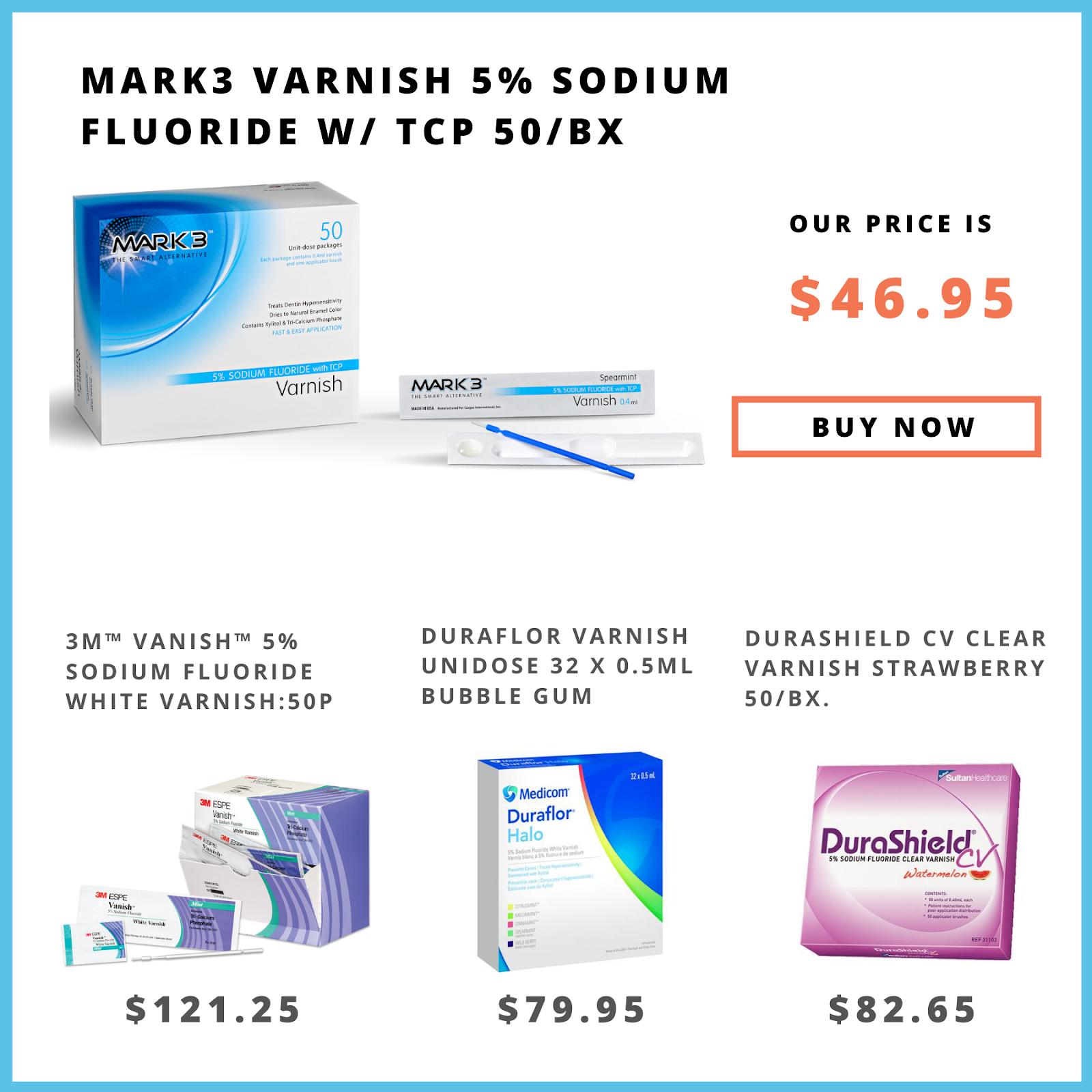 MARK3 VARNISH 5%sodium fluoride