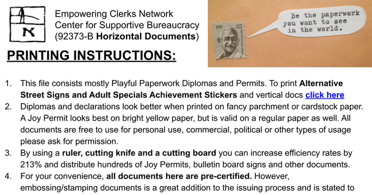 Print Your Own ECN Documents Horizontal