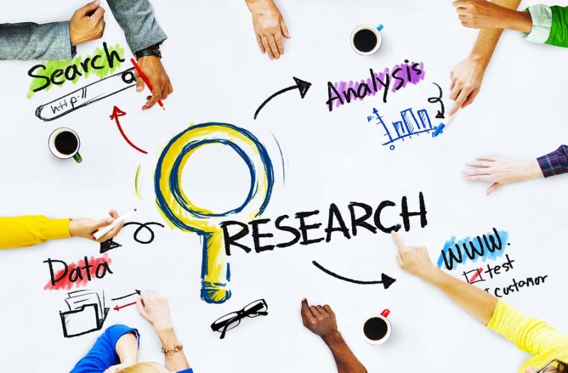 Illustration showing market research