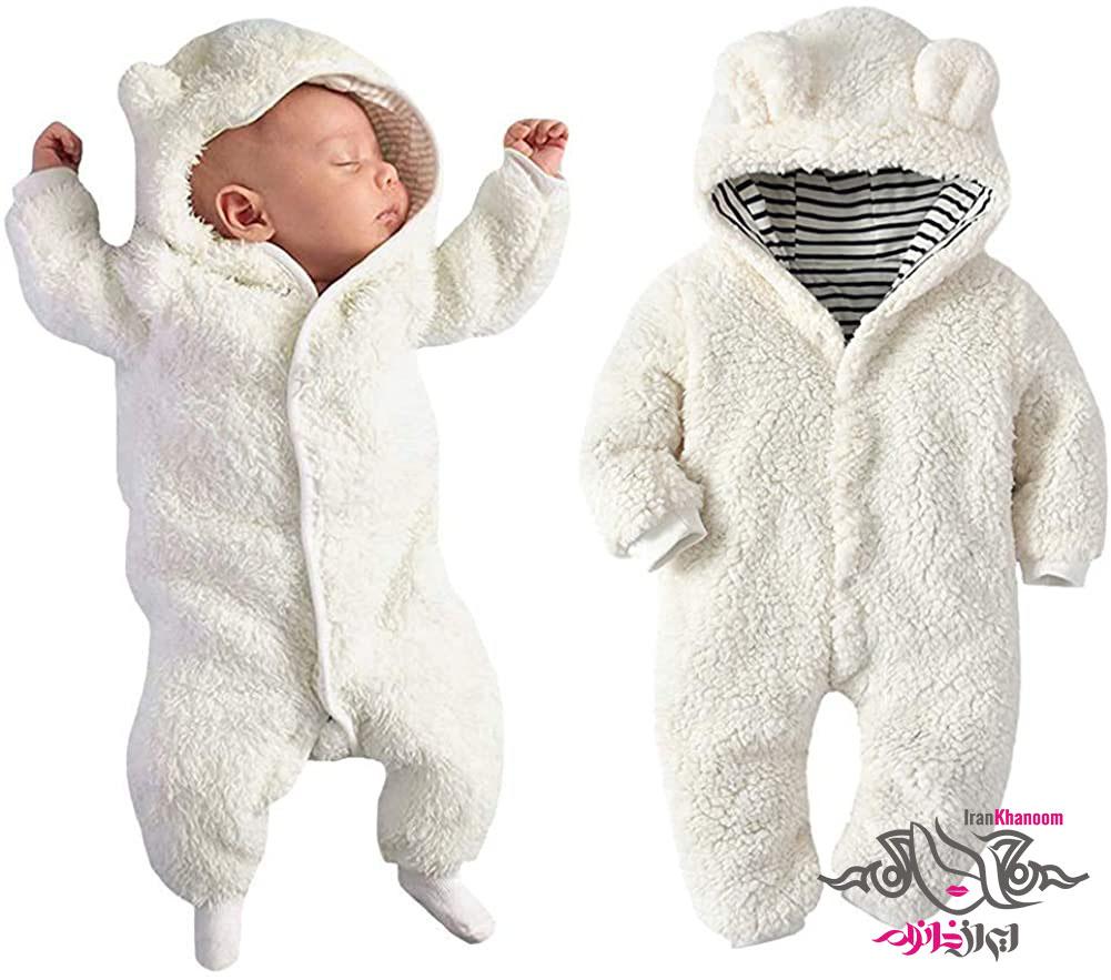 بافت لباس نوزادی دخترانه