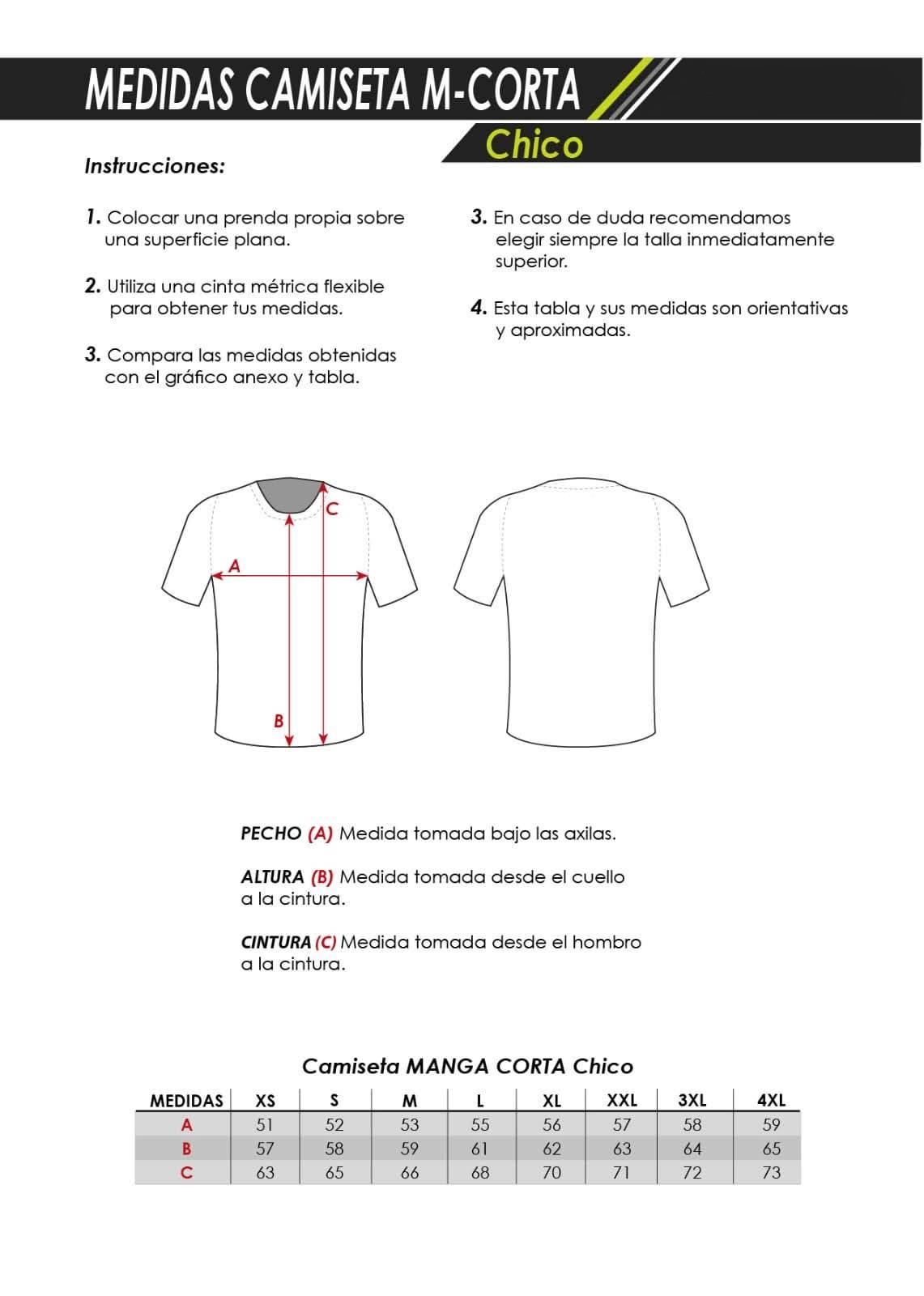 Tallaje Camisetas Personalizadas