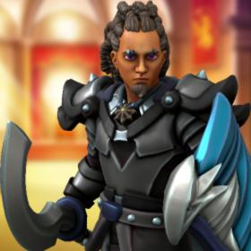 אנדור דה-אורסלו, שחור הכנף. תמונה הוכנה באמצעות Heroforge minis