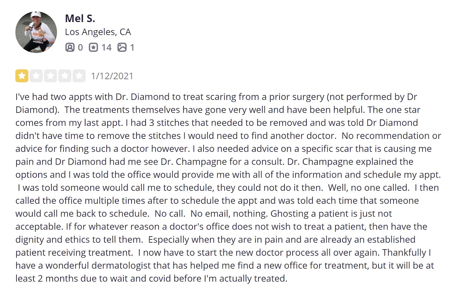 Dr. Jason Diamond MD review 4