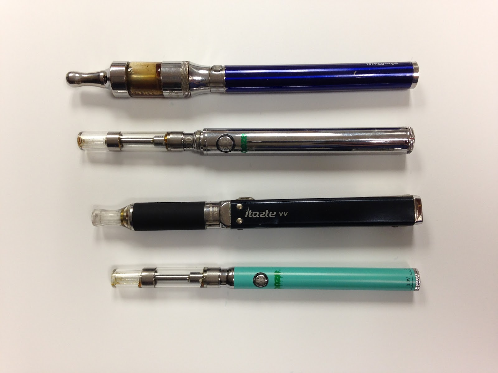 Examples of vaping devices