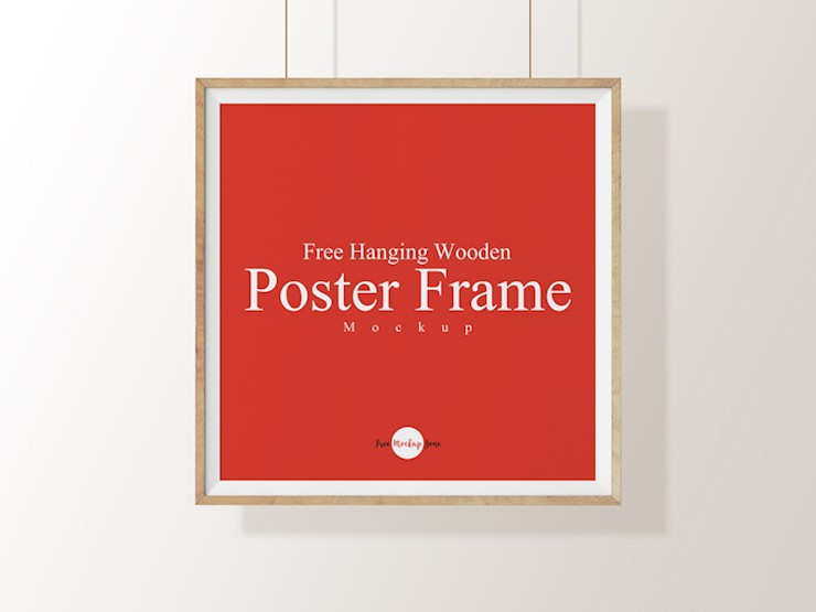 free-hanging-wooden-poster-frame-mockup-psd-template