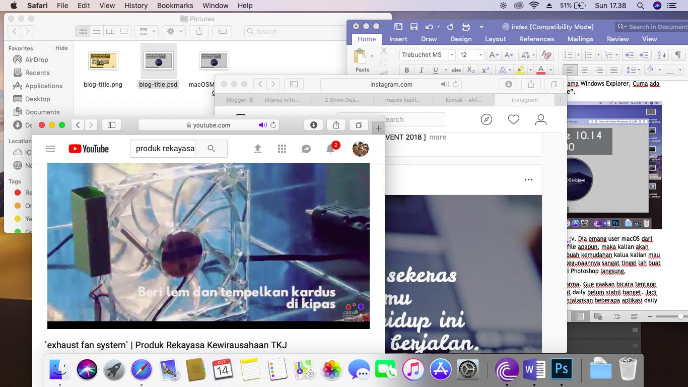 multitasking macOS Mojave Lenovo g400 Hackintosh
