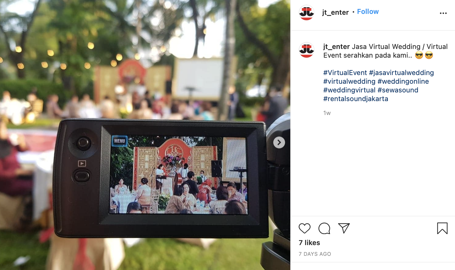 video camera recording wedding ceremony