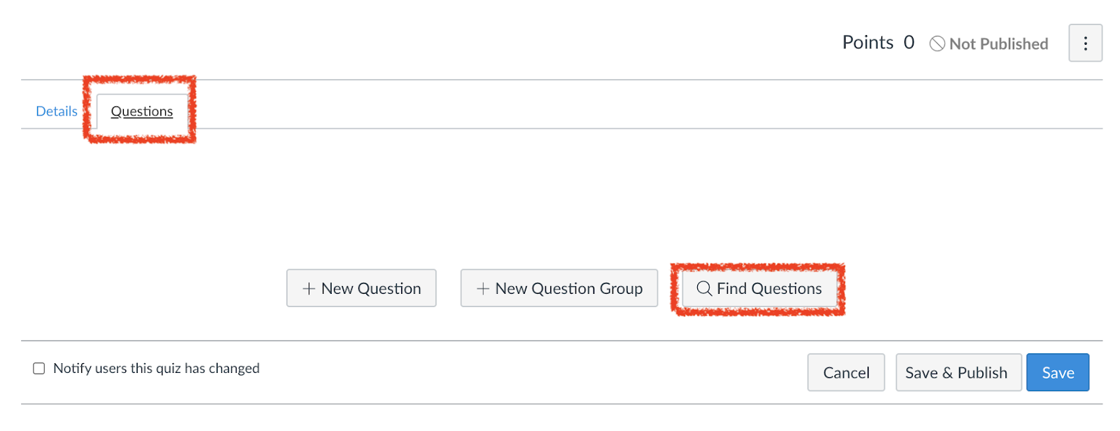 Select Find Questions
