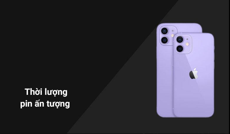 Điện thoại di động iPhone 12 128GB Purple MJNP3VN/A | Thời lượng pin ấn tượng