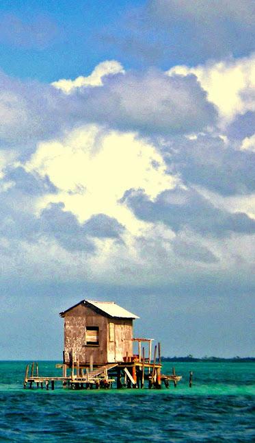 Belize fishing hut