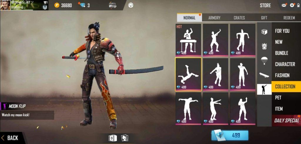 Image result for how to get free emotes in free fire