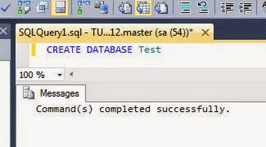 Create database test
