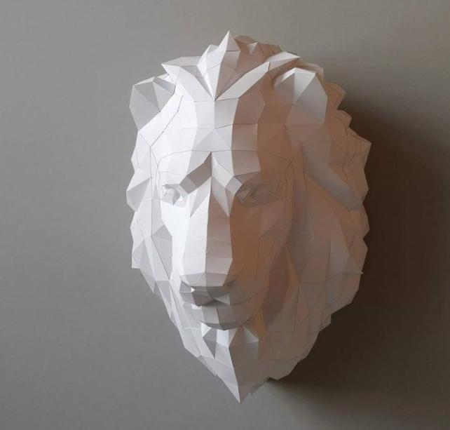 王者獅子壁飾