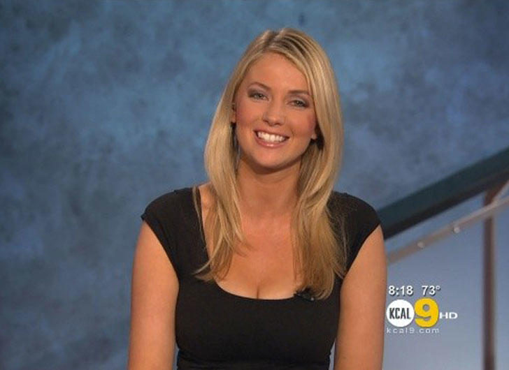 Evelyn Taft with KCAL-9