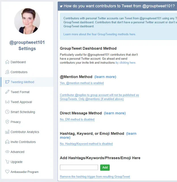 select your tweeting method - auto retweet tools - TweetJumbo.com- twitter automation bot tool