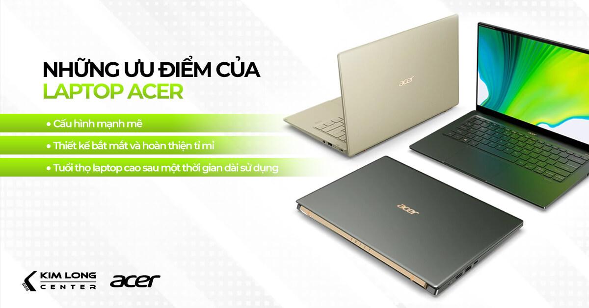 ưu điểm nổi bật của laptop acer