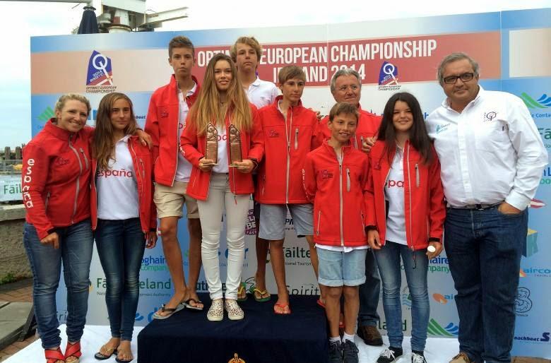 Julia Miñana acaba el europeo de Optimist en quinta posición