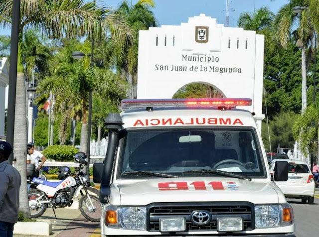 Sistema 9-1-1 informa: Dificultad respiratoria y accidentes de tránsito son las emergencias más frecuentes en San Juan de la Maguana