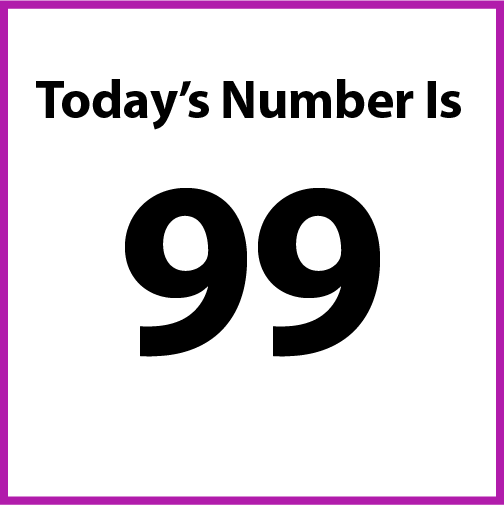 Today's number is 99.