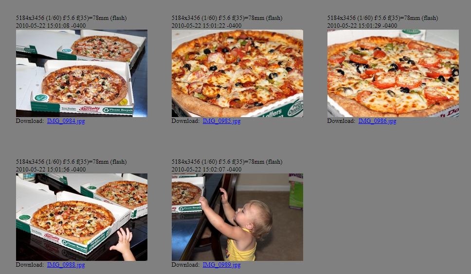 Imágenes de las pizzas compradas por Laszlo. Bitcoin Pizza Day. Fuente: Heliacal