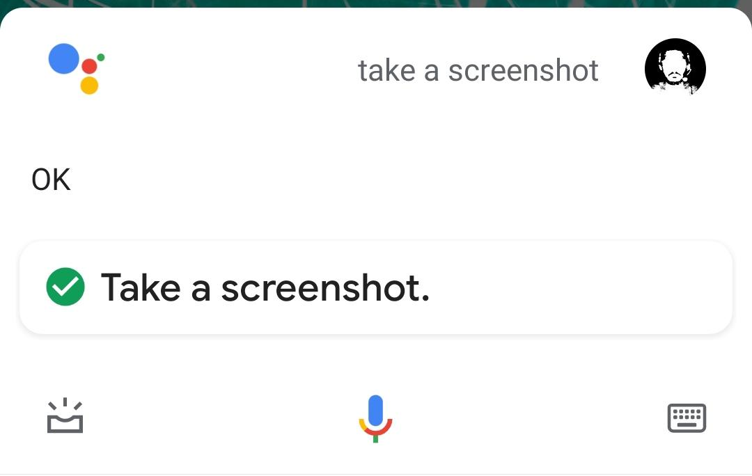 Voice command to take a screenshot