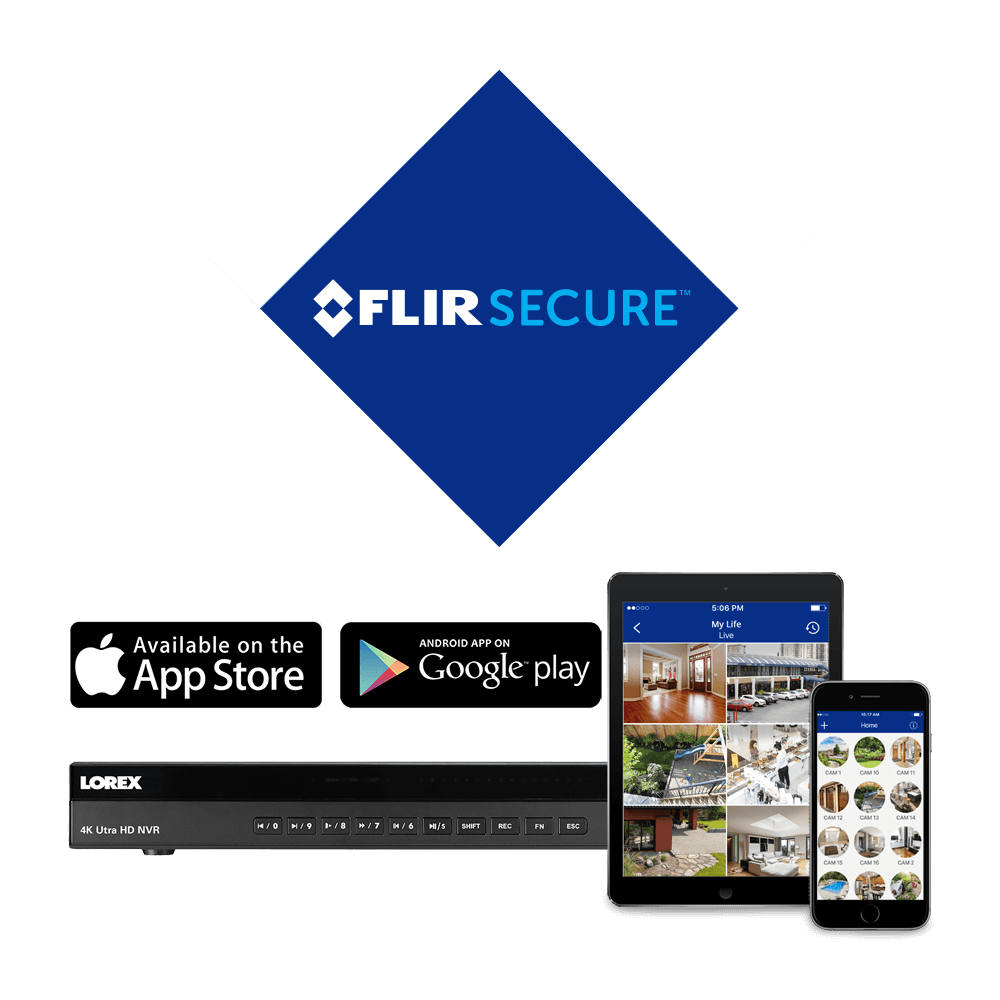 You will always be connected to your property, no matter where you are in the world, with the FLIR Secure app for mobile