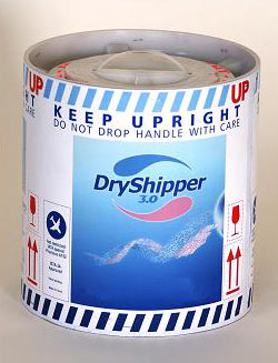 The single-use disposable dry-shipper has a weight of 4.5 to 5.0 kg when full and a holding time of 4 days.
