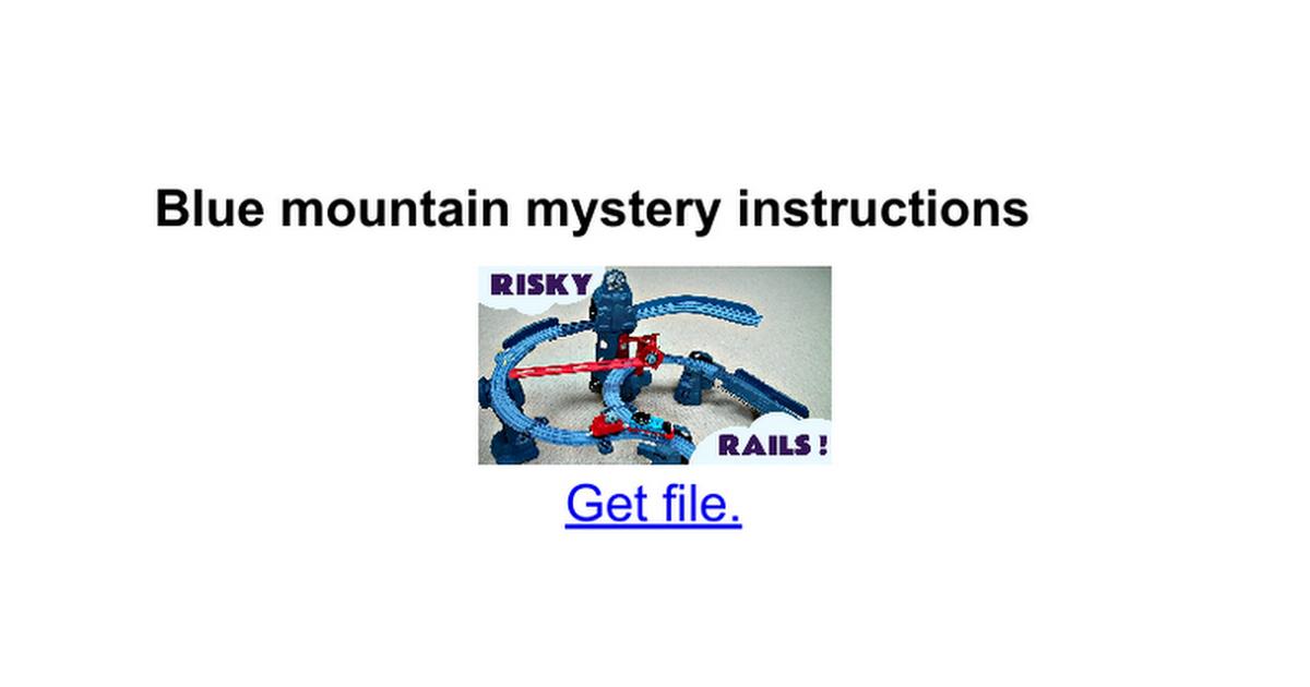 Blue Mountain Mystery Instructions Google Docs