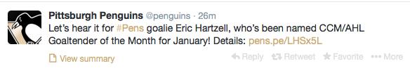 Pittsburgh Penguins Tweet