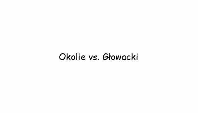 Okolie vs. Głowacki