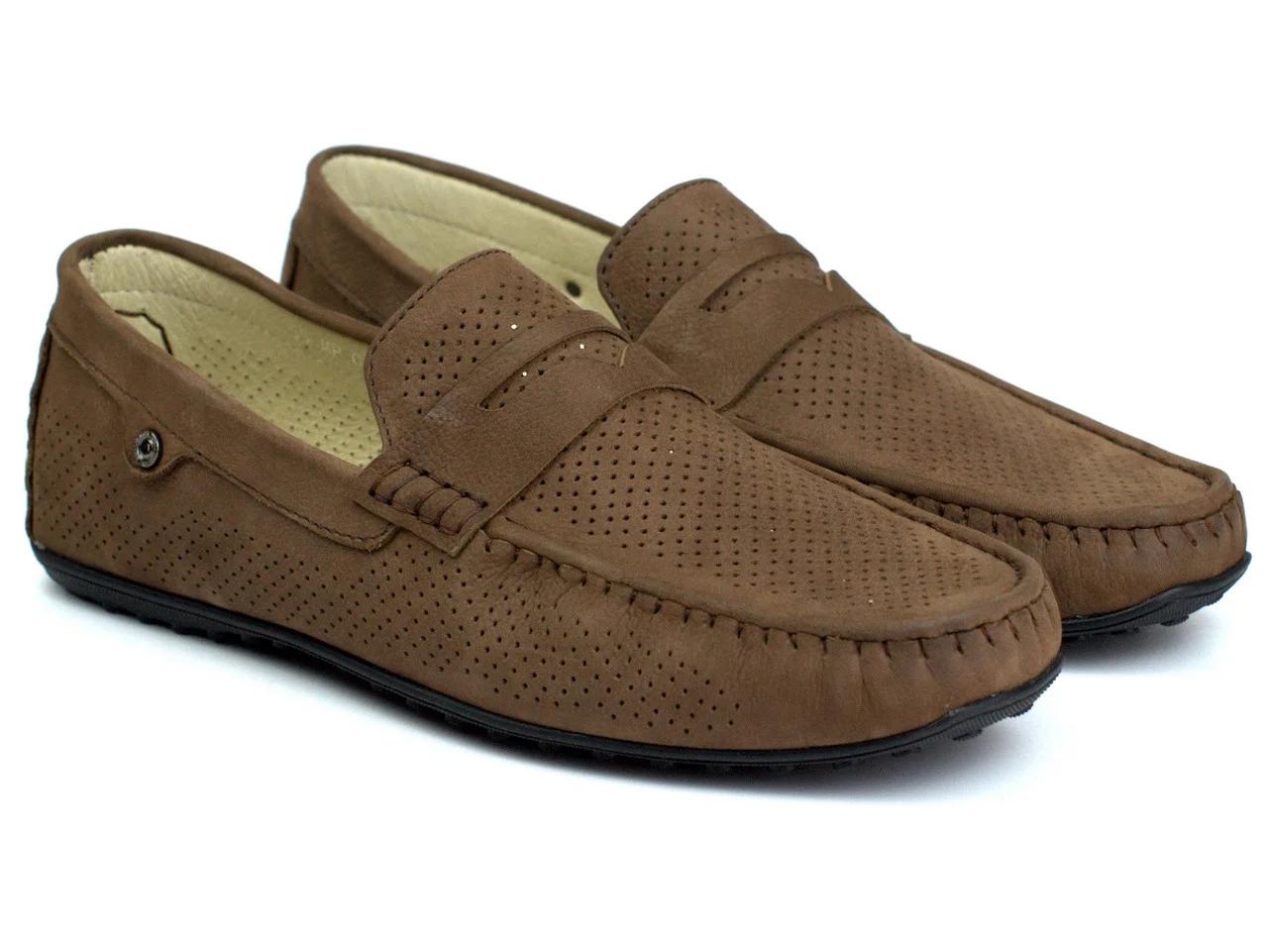 Коричневые летние мокасины замшевые обувь больших размеров мужская Rosso Avangard ETHEREAL Cappuccino Brown Nub Perf BS Подробнее: