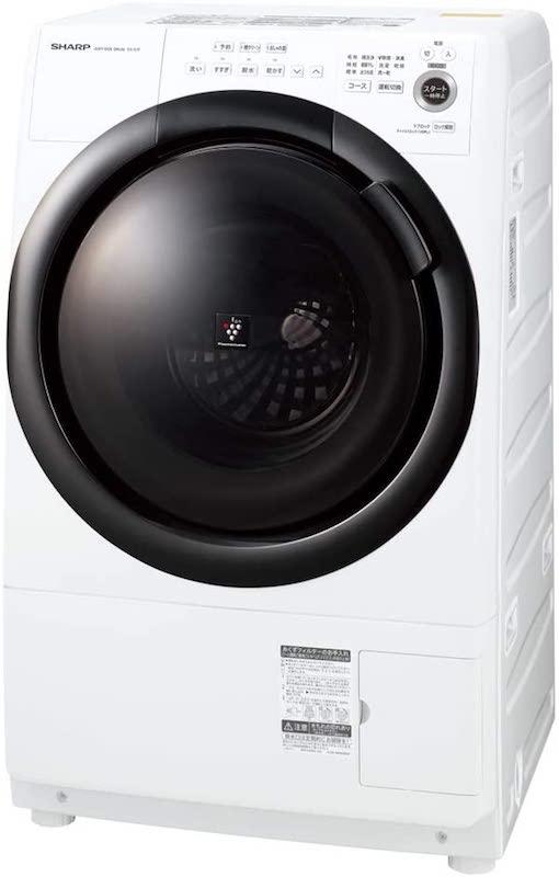 シャープ ドラム式 洗濯乾燥機 ES-S7F-WL