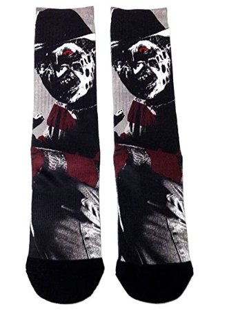 Horror socks: Freddy Krueger Nightmare On Elm Street Premium Sublimated Crew Socks