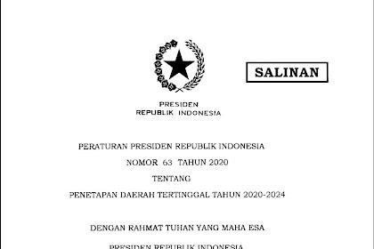 Inilah Daftar Daerah Tertinggal Tahun 2020-2024
