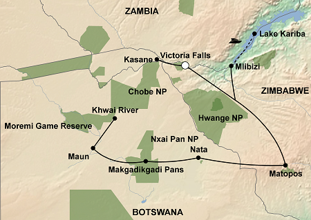 map of safari package