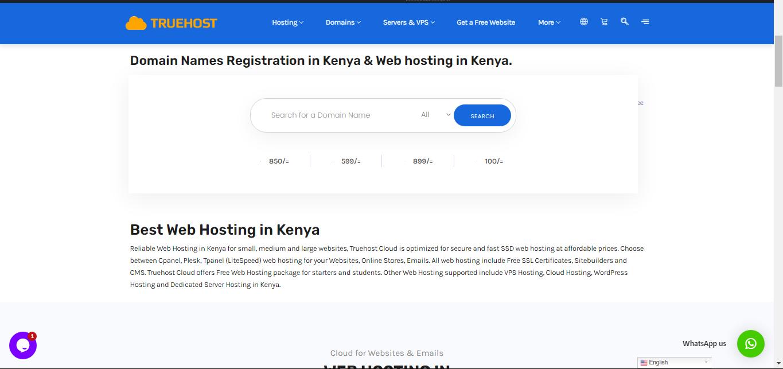 GoDaddy domains alternative: Truehost
