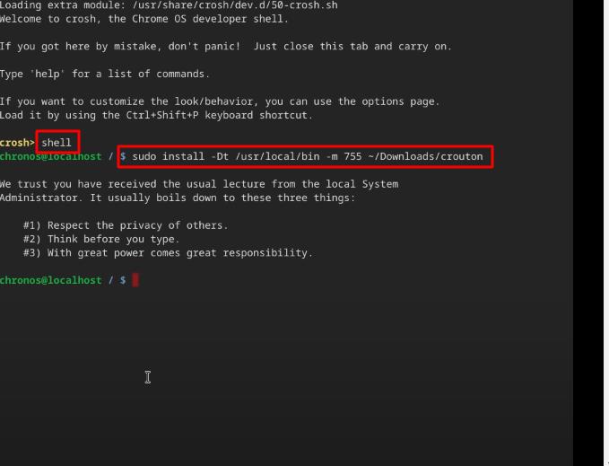 Install Crouton Script