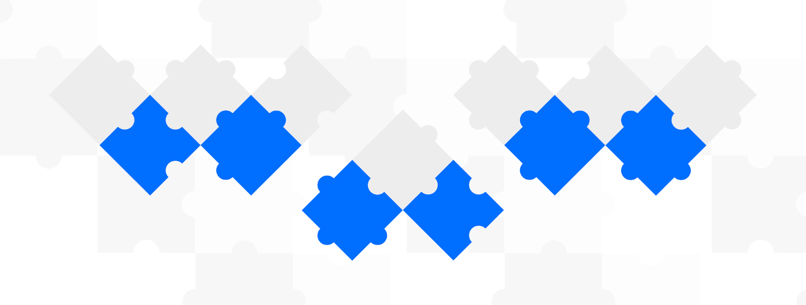 Puzzles representing composable commerce
