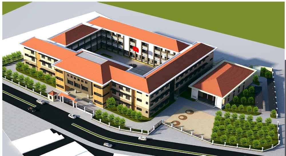 Kiến trúc trường học điển hình với tôn lợp mái