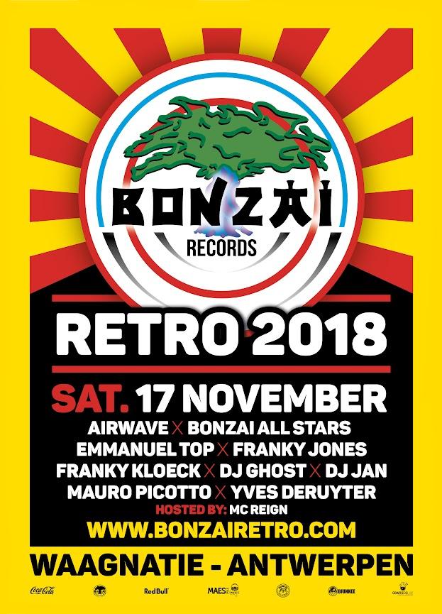 Concours 2 entrées (2x1) Cinquième édition du Bonzai Retro 17/11/18 @ Waagnatie à Anvers