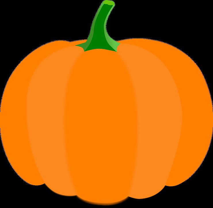 Pumpkin, Cartoon, Orange, Stem ...