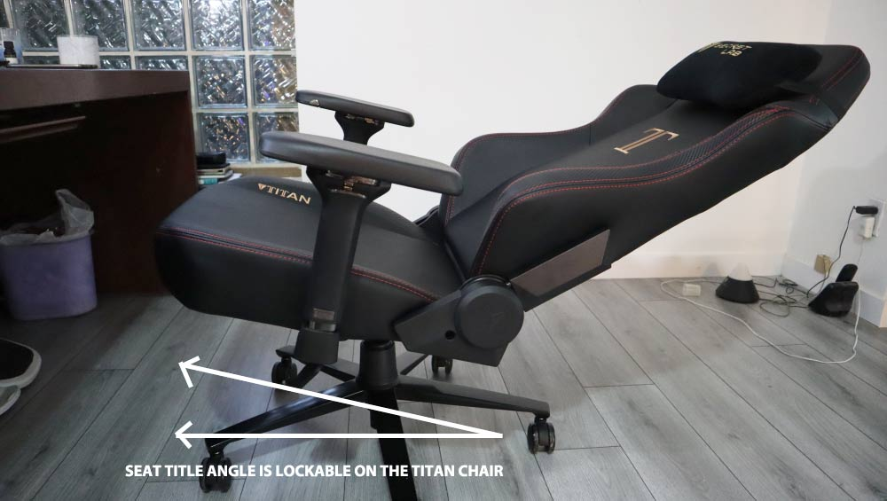 Multi-tilt mechanism on Secretlab Titan good for back pain