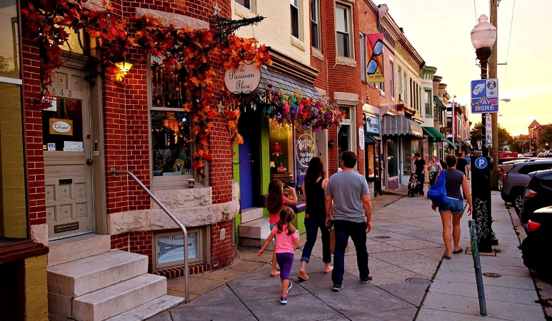 Hampden is a quirky neighborhood in Baltimore.