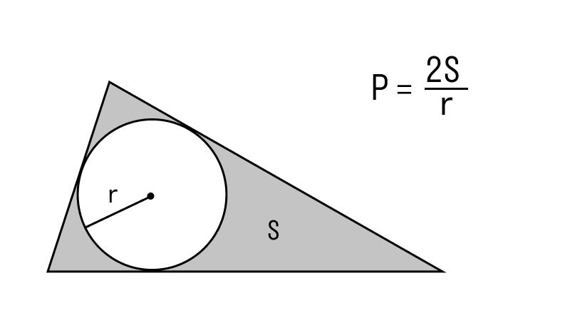 треугольник со вписанной окружностью