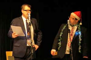 John Stretton and Simon (I'm a jolly Harry) Lenthen telling the new impoved version of 'A Christmas Carol' by ...