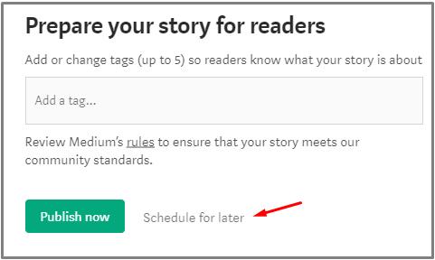 schedule medium story