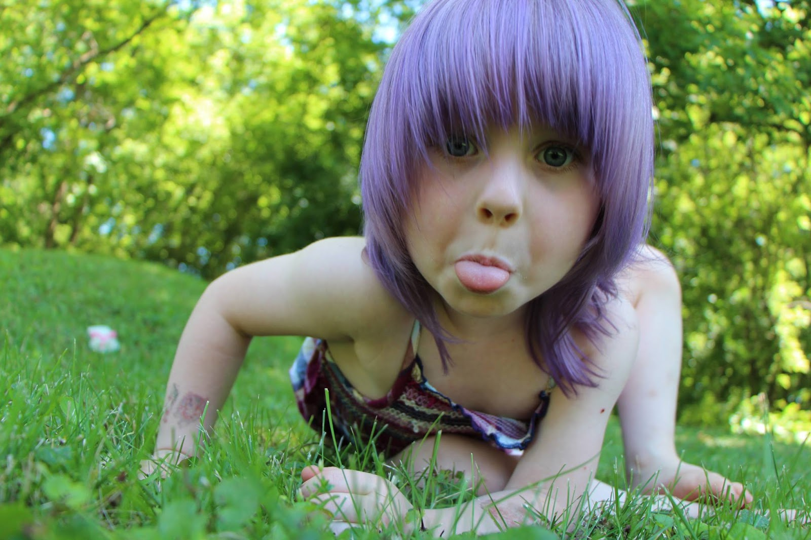 Kids can have purple hair! (image credit: Sandy Jorgenson)